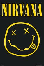 Nirvana (Smiley Face) Music Wall Decoration Poster Art Print 24x36 inch