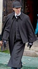 Sherlock Holmes Detective Season 4 Wool Coat Mens Charcoal Black Long Coat