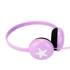 Purple Lightweight Kids Childs Girls Boys Star Headphones Kindle Fire HD / HDX
