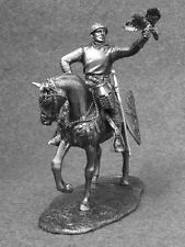 Cavalry Mounted 1/32 Knight with Falcon Action Figures Army Toy Soldier 54mm