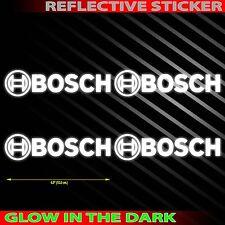 """4.0""""X4PC. BOSCH REFLECTIVE LIGHT DECAL STICKER DIE CUT NO BACKGROUND"""