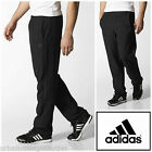 Adidas 3S Climalite Essentials Mens Tracksuit Bottoms Black Woven Jog Track Pant