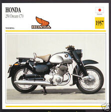 1957 Honda 250cc Dream C70 247cc Japan Bike Motorcycle Photo Spec Info Stat Card