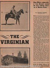 The Virginian - Owen Wister and His Legend -Farnum, Haycox, Kembel, List, Wister
