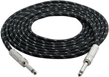 "12' ft 1/4"" inch M-M Premium HQ Shielded Guitar Keyboard Audio Cable Cord VWLTW"
