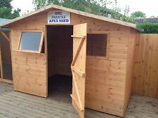 8X4 THE DELUXE APEX SHED/ TONGUE AND GROOVE WOODEN SHED