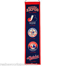 MONTREAL EXPOS HERITAGE LOGO BANNER BEAUTIFUL NEW CARTER DAWSON RAINES RARE