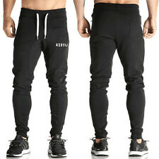Mens Slim Fit Sports Training Sweat Pants Gym Fitness Trousers Tracksuit Bottoms