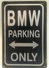 BMW Parking Only Vintage Retro Metal Sign Plaque Home Decor Garage Pub Studio