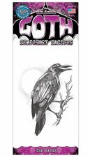 THE RAVEN GOTH TATTOO 1 PC TEMPORARY FAKE BODY ART GAG NOVELTY TRICK MAGIC KID