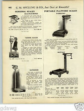 1925 PAPER AD Physicians School Doctor Bathroom Upright Scale Candy Counter Sale