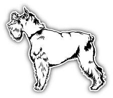 Schnauzer Dog Sketch Car Bumper Sticker Decal 5'' x 4''