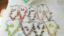 Joblot of 24 Clover leaf Charm Necklace & Earring sets NEW Wholesale lot C