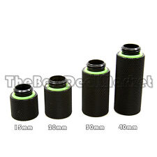 Water Cooling G1/4 Male to Female Extender 40mm Fittings Adapter Black US Seller