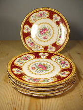 Royal Albert Lady Hamilton SIX Tea Plates