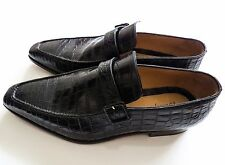 $6230 NEW BRIONI Black Crocodile Leather Shoes Loafers Size 11 US 44 Euro 10 UK