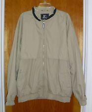 STARTER Mens XXL Jacket Coat Tan/Beige 2XL Big & Tall Lined w/ Nylon Fall Winter