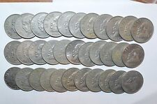 MEXICO lot UN PESO vintage world Z foreign Mexican one large 33 COINS