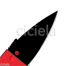 1PC Blade Outdoor Red Handy Cardsharp Credit Card Safety Folding Good Knife New
