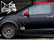 P16 CITROEN DS3 RACING DOOR LOGO GRAPHICS DECAL STICKERS