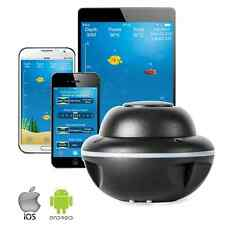 Wireless Portable Fish Finder Bluetooth Sonar GPS for iPhone iOS Android