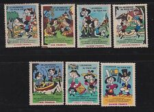 france pre-1955 seven labels for vacation    g1250