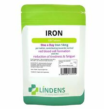 Iron 14mg (ferrous fumarate) one-a-day *120 Tablets* Lindens UK made