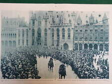 WW1 WAR 1918 LIBERATION OF BRUGES, LILLE, OSTEND, DOUBLE PAGE