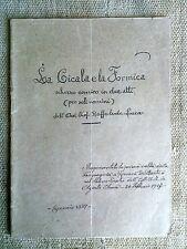 La cicala e la formica scherzo comico in due atti di Raffaele De Luca  1927