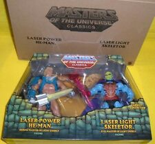 MASTERS OF t UNIVERSE LASER POWER HE-MAN VS LIGHT SKELETOR CLASSICS MOTUC MATTEL