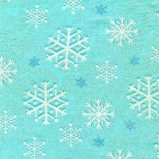 Fat Quarter Aqua Snowfall 100% Cotton Quilting Fabric Ideal for Frozen