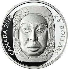 Kanada 25 Dollar Silber 2014 PP Matriarch Moon Mask - Mond Maske Matriarchin