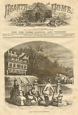 Thomas Nast, Moving, First Of May House Upside Down, Vintage, Antique Art Print,