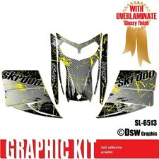 SLED WRAP DECAL STICKER GRAPHICS KIT FOR SKI-DOO REV MXZ SNOWMOBILE 03-07 SL6513