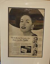 Original Vintage Advert mounted ready to frame Lux Toilet Soap 1953