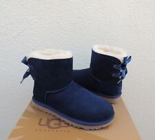 UGG NAVY BLUE DIXI FLORA PERF MINI BAILEY BOW SHEEPSKIN BOOTS,  US 7/ EUR 38~NIB