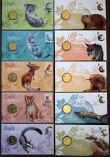 10 DIFFERENT 2011-2013 AUSTRALIAN BUSH BABIES PNC STAMP & $1 COIN COVERS