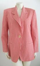 KORS MICHAEL KORS RED & WHITE CHECKERED JACKET MADE IN ITALY SIZE 8 100% COTTON