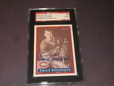 EMILE BOUCHARD AUTOGRAPHED 1993-94 O-PEE-CHEE CARD SGC SLAB-ENCAPSULATED