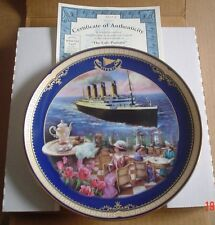 Bradford Exchange Collectors Plate THE CAFE PARISIEN TITANIC