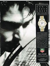 Publicité Advertising 1991 La Montre Tag-Heuer serie 1500