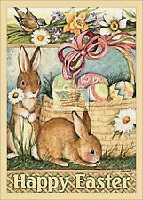 REPRINT PICTURE of older postcard HAPPY EASTER 5x7