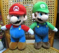 NEW Super Mario Brothers Bros mario and luigi plush toys lot of 2pcs 25cm UK