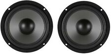 "BRAND NEW PAIR All Purpose High Performance 6-1/2"" 6.5"" Inch Subwoofer Speaker"