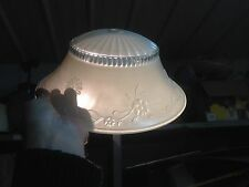 Vintage   frosted  white Cieling Light Glass Globe Shade Chic