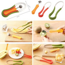 3X Stainless Fruit Fruit Vegetable Pattern Carving Garnishing Dig Ball Spoon Kit