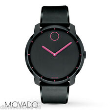 100% AUTHENTIC NEW MOVADO BOLD 44mm BLACK DIAL POLYURETHANE WATCH 3600192