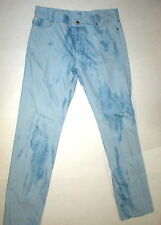 New Mens Designer RED Valentino Jeans 33 X 33 NWT Italy Light Blue Tie Dye Pants