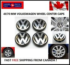 4X VW VOLKSWAGEN CENTER WHEEL CAPS 70MM 2003-2010 Touareg 2.75in Center caps