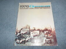 1976 QUICKSILVER ACCESSORIES MERCRUISER STERN DRIVES and INBOARDS PARTS CATALOG